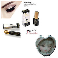 COMBO PACK OF BLUE HEAVEN EYELINER(BLACK) AND MASCARA WITH POCKET MIRROR.