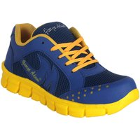 George Adam Admiral  MenS Blue With Yellow Lace Sport Shoes ( Sk040blue Sports Shoes)