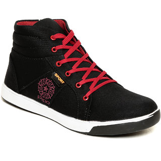Pipo Black Canvas Sneaker Casual Shoes For Men - 89232156