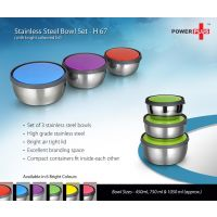 Stainless Steel Bowl Set (Set Of 3)