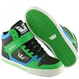 High Anklet Supra Casual Sneaker For Men Green/Black/Blue