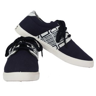 Scantia Men's Navy And White Casual Shoes