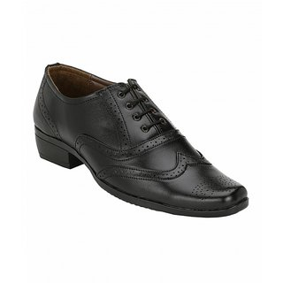 Sole Legacy Mens Black Brogue Shoes