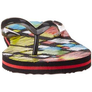 Sparx Womens Rubber Flip-Flops Colour  Multi Colore With Black Straps