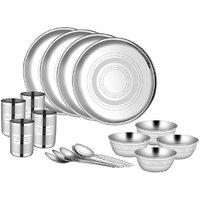 Stainless Steel Dinner Set - 16 Pcs