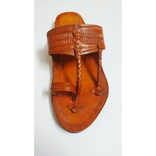 Indian Ethnic Kolhapuri Chappal (men) With Anti Skid Sole