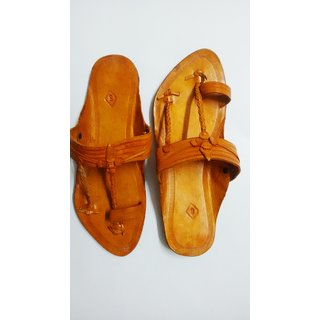 Ethnic Kolhapuri Chappal (men) With Anti Skid Sole