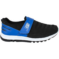 Smithsoul Black/Blue Sports Shoes