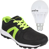 SESS BLACK-057 MEN/BOYS SPORT SHOE FREE ONE LED BULB
