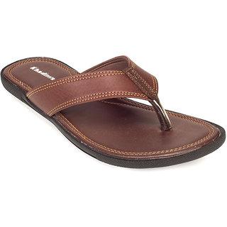 Khadims Mens Brown Casual Slippers