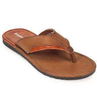 Khadims Mens Khaki Brown Casual Slippers