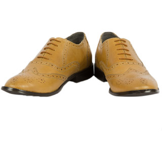Hyza Genuine Leather Semi Formal Shoes For Men