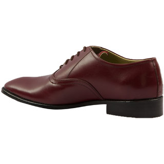 Hyza Brown Formal Leather Shoes For Men