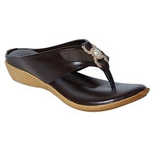 9SPACE Womens Brown Flat Sandal