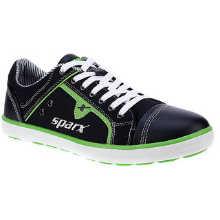 Sparx-229 Navy Blue FL Green Shoes