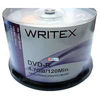 Writex DVD-R 16X 4.7gb Blank DVD Spindle 50 Pcs Pack