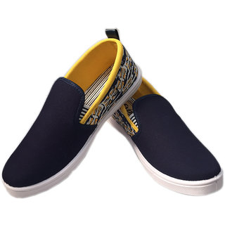 Evok Men's Blue Slip On Sneakers Shoes