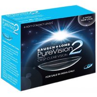 Bausch + Lomb PureVision2 HD Contact Lenses (6 Lenses/Box) Ligth Blue Color