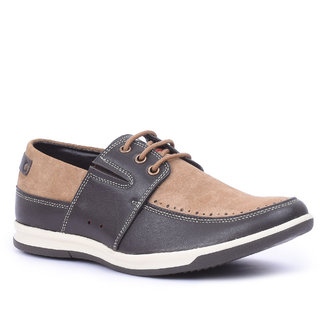 Spunk Men Beige  Brown Casual Shoes