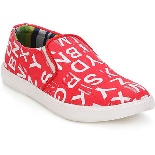 Spunk Men Red Casual Shoes