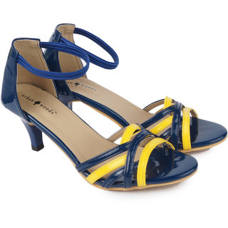 Urban Woods Womens Blue Kitten Heels (771-9404)