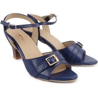 Urban Woods Womens Blue Kitten Heels (661-9625)
