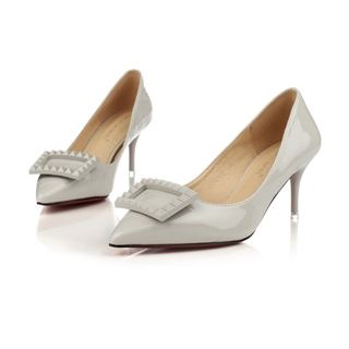 StarLet White  Stylish Lady Suede Shoes Stilettos High Heels Pointed Toe Dress Shoes