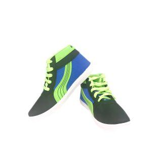 Evok Trend Mens Multi Casual Shoes (Evok-TREND-3-BK-R.Blue-P-GRN)