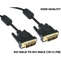 DVI To DVI (18+1)Pin Male To Male Single Link Cable Digital Video Monitor Cable