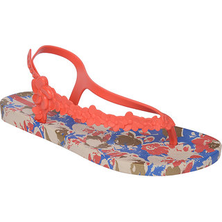 Ipanema-Women-Beige - Red/Blue-Flip Flop (80864-22932-US10-BEIGE-RED-BLUE)