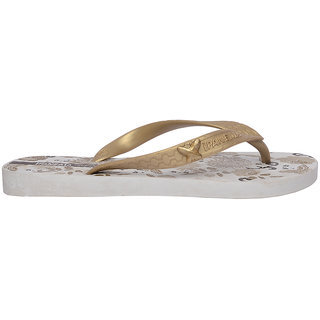 Ipanema-Women-White - Gold-Flip Flop (25473-22019-US10-WHITE-GOLD)