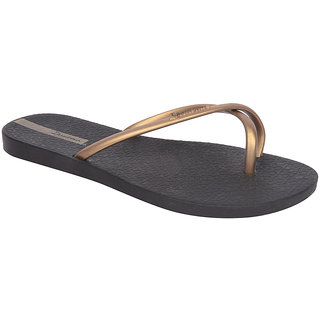 Ipanema-Women-Black - Gold-Flip Flop (25733-23707-US10-BLACK-GOLD)