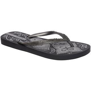 Ipanema-Women-Black - Silver-Flip Flop (81051-21148-US10-BLACK-SILVER)