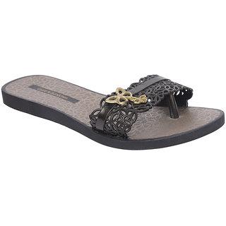 Ipanema-Women-Black - Black/Gold-Flip Flop (16086-21847-US10-BLACK-BLACK-GOLD)