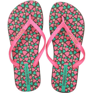 Ipanema-Women-Brown-Pink-Green-Flip Flop (25494-22906-US10-BROWN-PINK-GREEN)