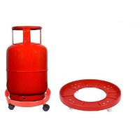 LPG Kitchen Gas Cylinder Trolley With Plastic Wheels