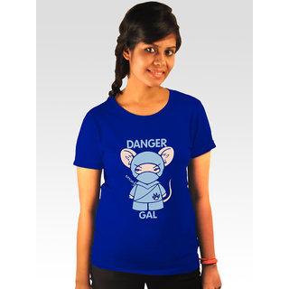 Incynk Women's Danger Gal Tee (Blue)