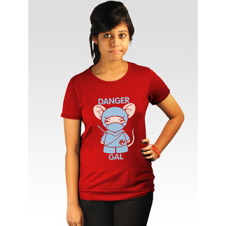 Incynk Women's Danger Gal Tee (Red)