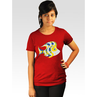Incynk Women's Fishiness Tee (Red)
