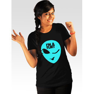Incynk Women's I Am A Flirt Tee (Black)