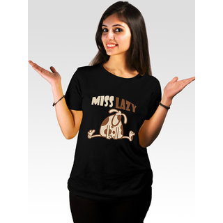 Incynk Women's Miss Lazy Tee (Black)