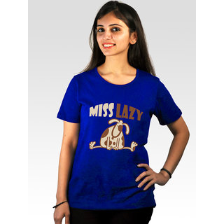 Incynk Women's Miss Lazy Tee (Blue)