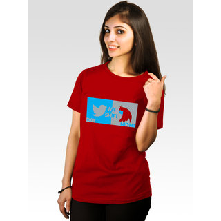 Incynk Women's Batwoman Tee (Red)