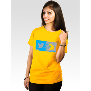 Incynk Women's Batwoman Tee (Yellow)