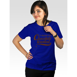 Incynk Women's Chocolate Wasted Tee (Blue)