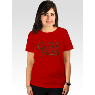 Incynk Women's Chocolate Wasted Tee (Red)