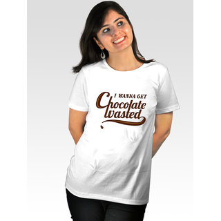 Incynk Women's Chocolate Wasted Tee (White)