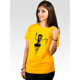 Incynk Women's Punked Tee  (Yellow)