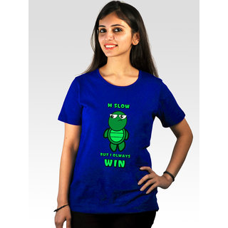 Incynk Women's Slow Wins Tee (Blue)