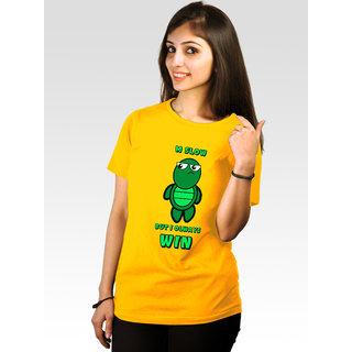Incynk Women's Slow Wins Tee (Yellow)